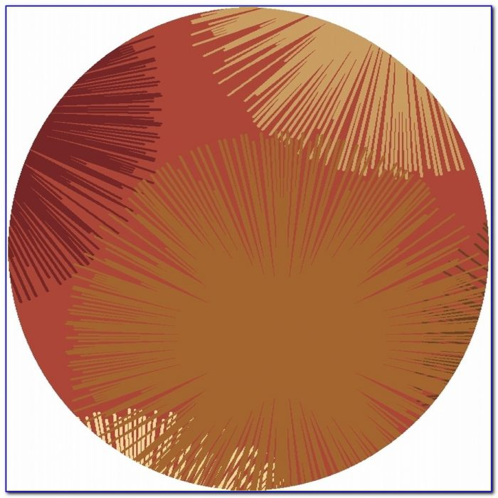5 Foot Round Contemporary Rugs
