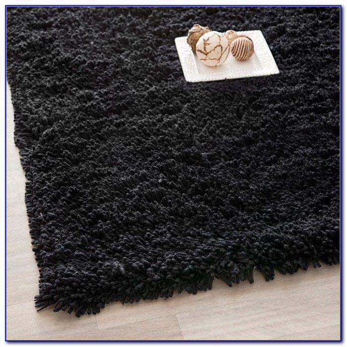 Black Shaggy Rug 160 X 230 Rugs Home Design Ideas