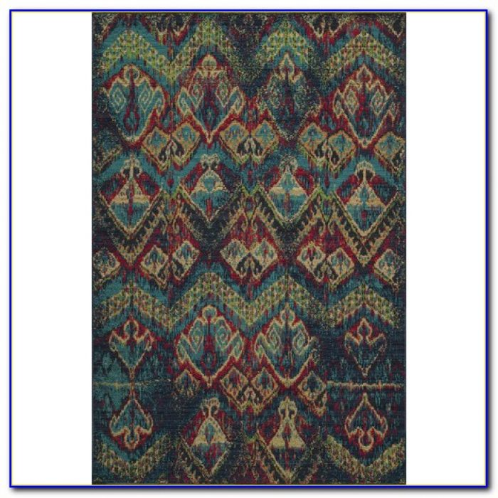 Blue Ikat Rug Runner