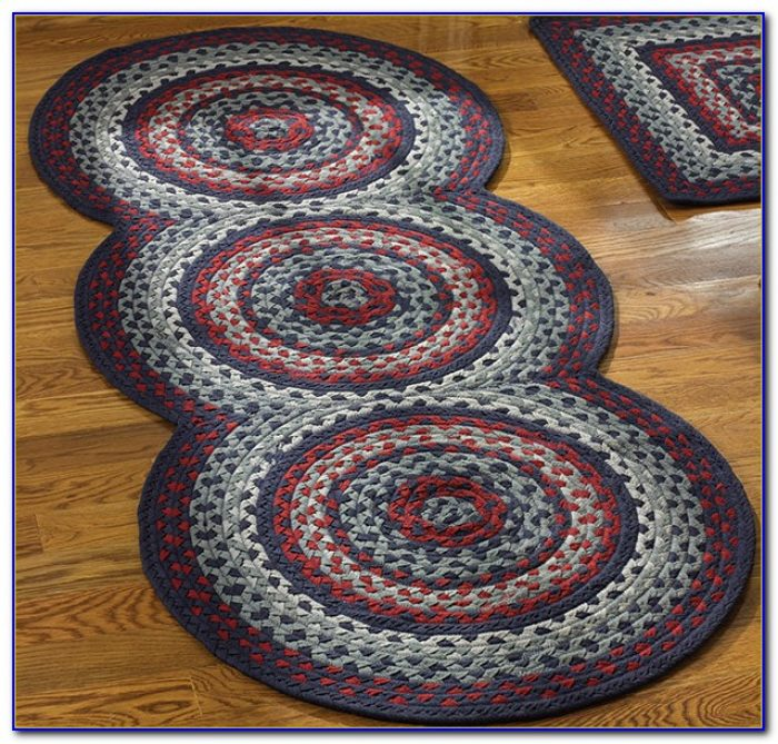 Washable Primitive Rugs: Country Braided Rug Runners
