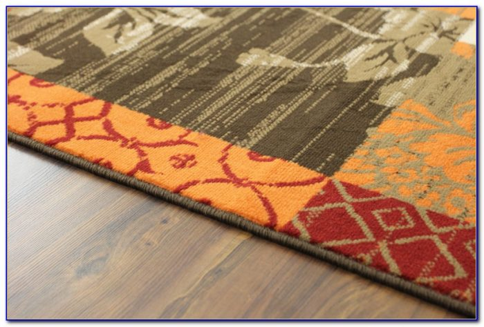 Burnt Orange And Blue Area Rug