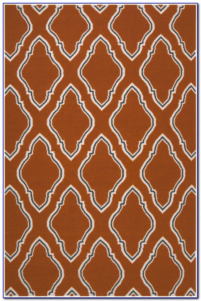 Burnt Orange And Chocolate Area Rugs