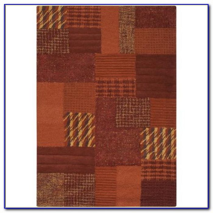 Burnt Orange And Grey Area Rugs