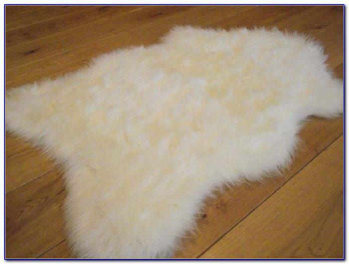 Faux Sheepskin Rugs White