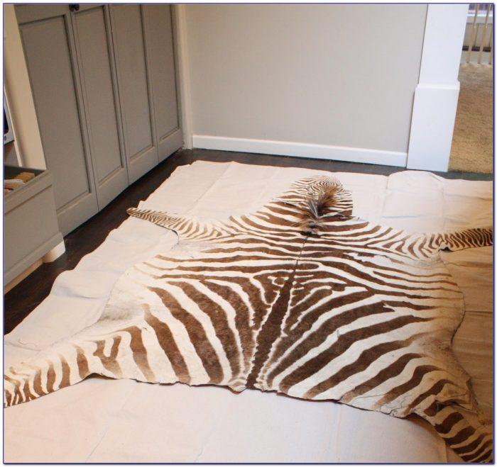 Faux Zebra Rug Diy