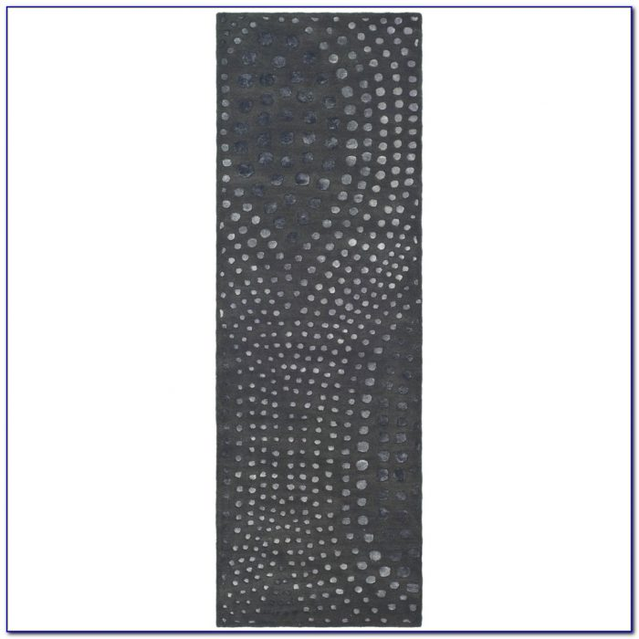 Grey Striped Runner Rug
