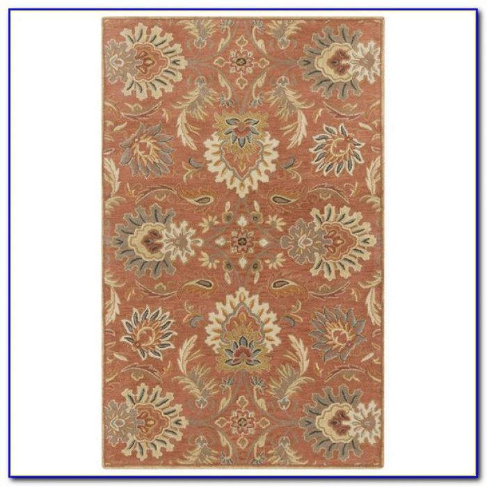 Large Burnt Orange Area Rug
