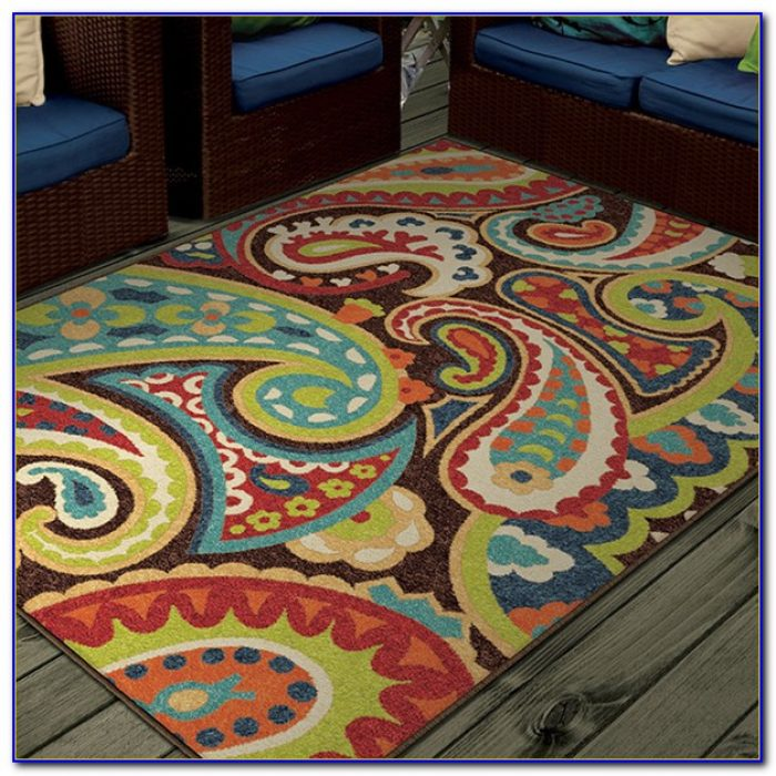 Multi Colored Striped Area Rugs