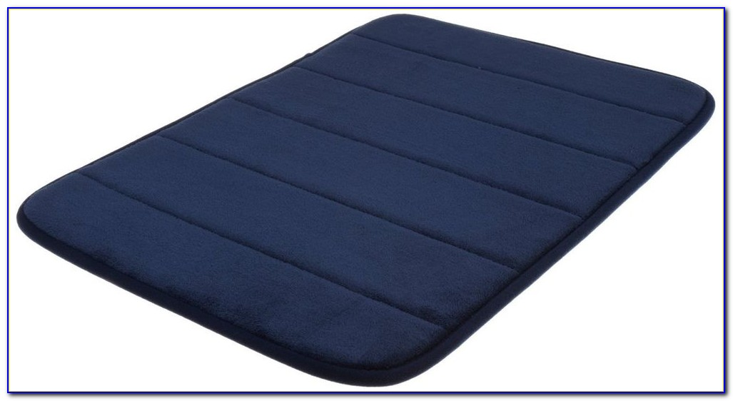 Navy Blue Bath Rug Runner