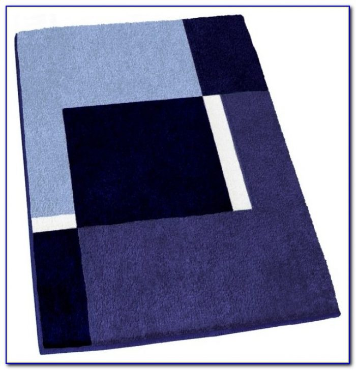 Navy Blue Bath Rugs Sets