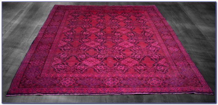 Navy Pink Persian Rug