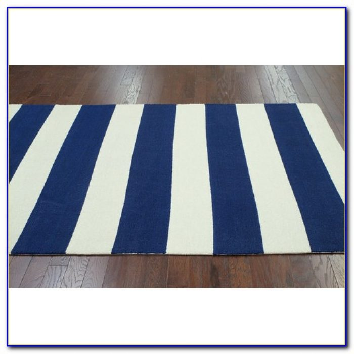Navy Rugby Stripe Curtains