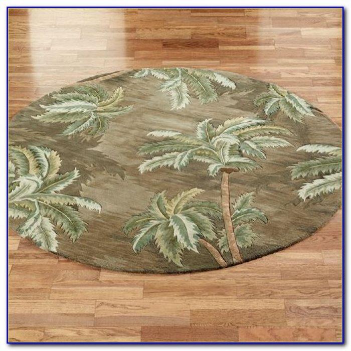 Palm Tree Rug 5x7