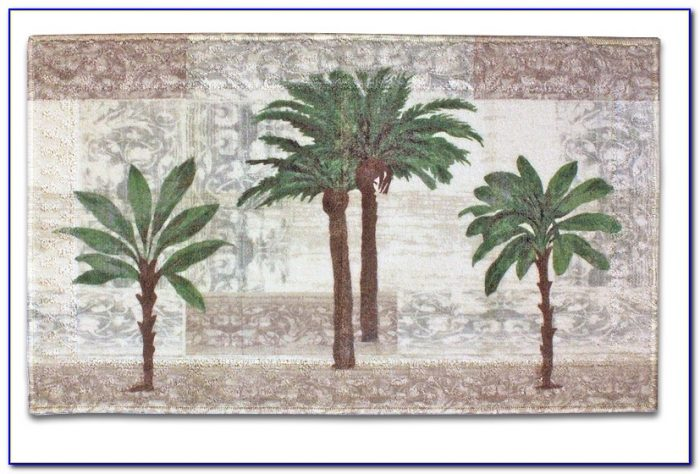 Palm Tree Rugs Bathrooms