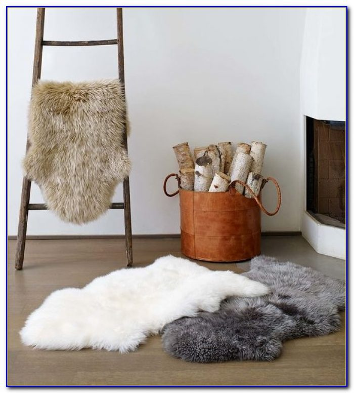 Rectangle Sheepskin Area Rug