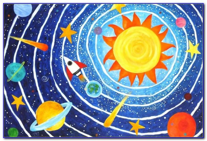 Large Solar System Rug Rugs Home Design Ideas