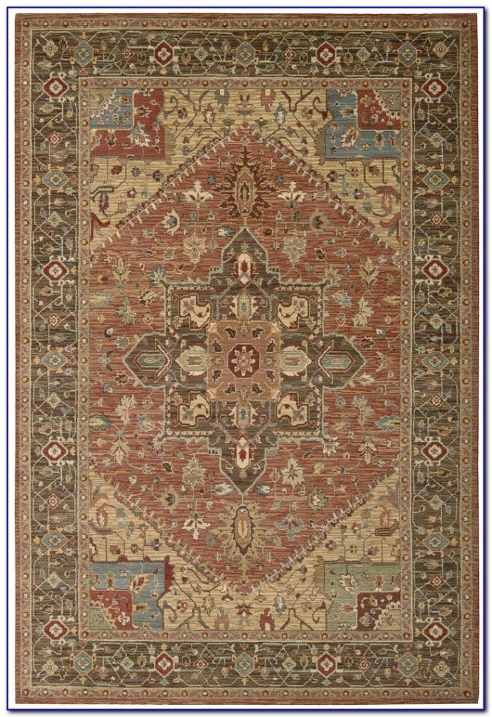 Rust Colored 8x10 Area Rug