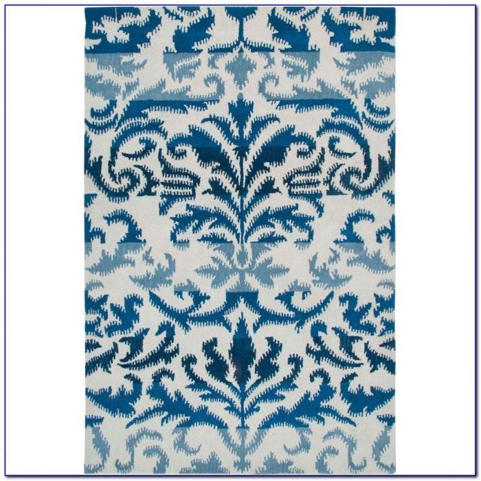 Seaside Blue Ikat Rug