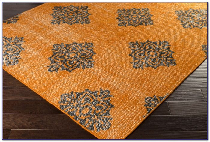 Surya Jax Burnt Orange Gray Area Rug