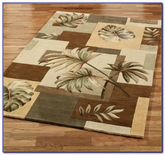 Washable Palm Tree Rugs