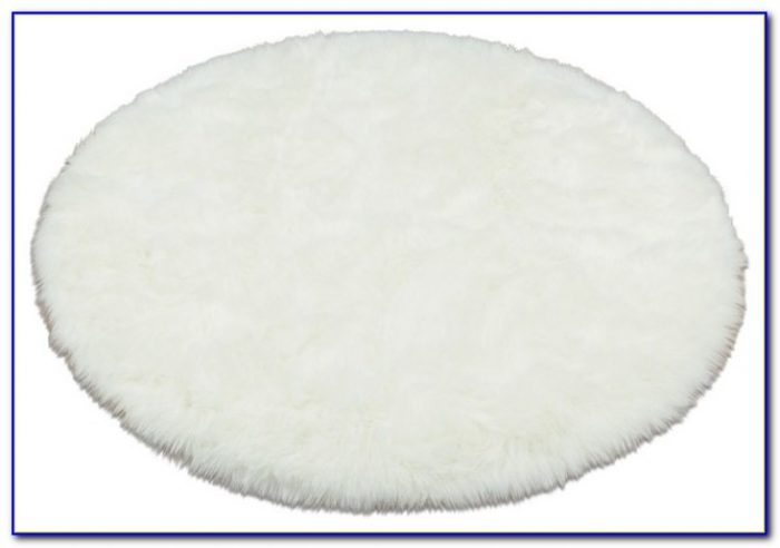 White Fur Accent Rug