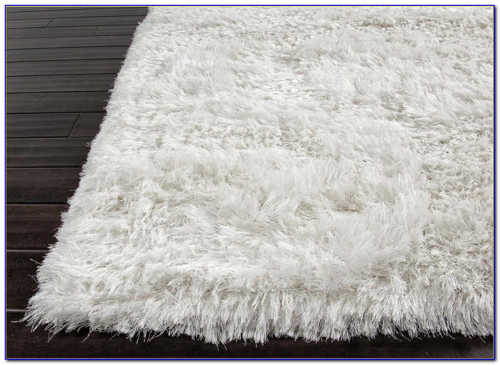 White Fuzzy Circle Rug Rugs Home Design Ideas
