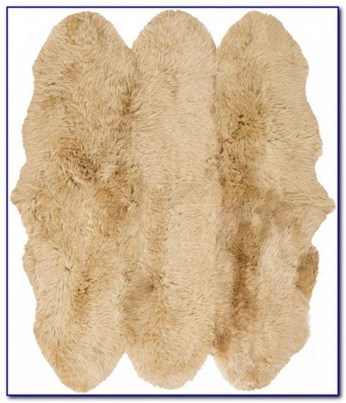 White Sheepskin Area Rug