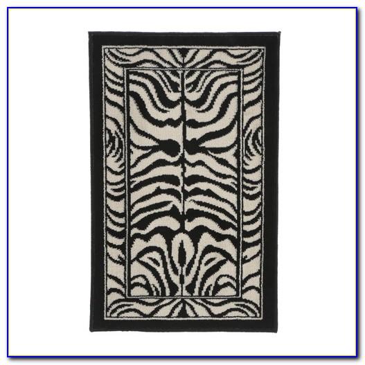 Zebra Print Area Rug 3×5