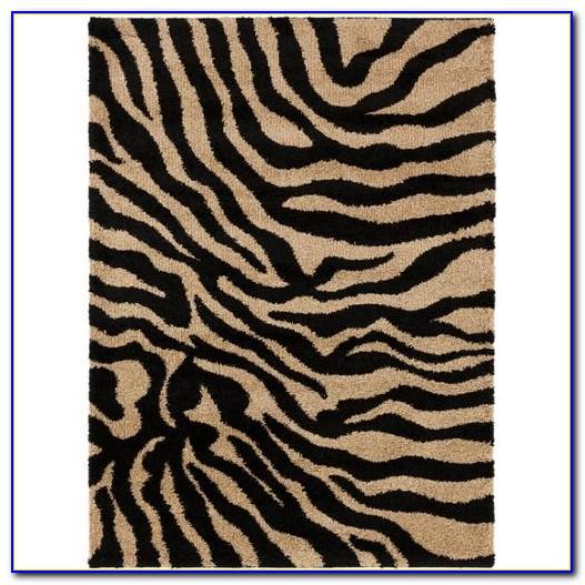Zebra Print Area Rug 8×10