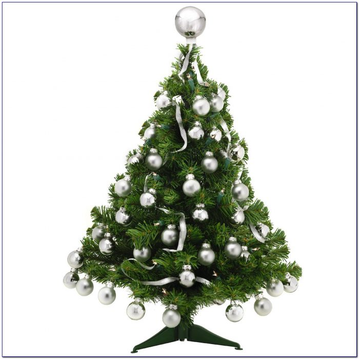 Artificial Tabletop Christmas Trees Decorated
