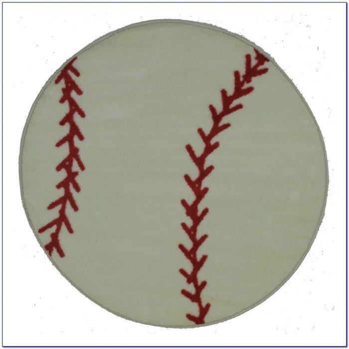 Baseball Rug: Baseball Diamond Area Rug