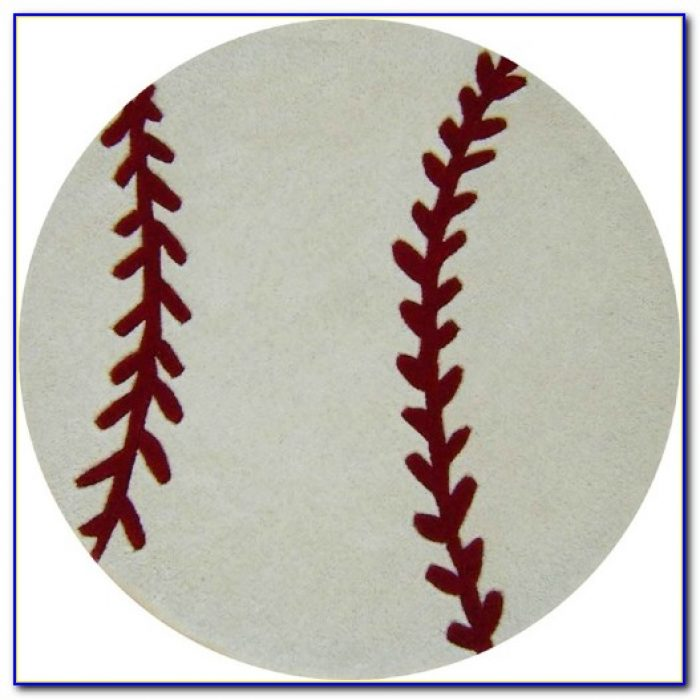 Baseball Diamond Area Rug