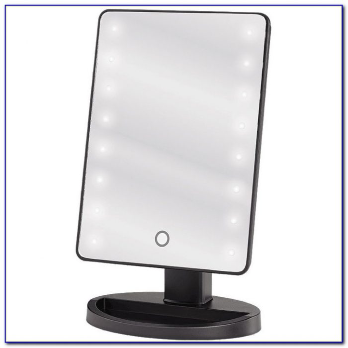 Tabletop Makeup Mirror With Lighted Tabletop Home