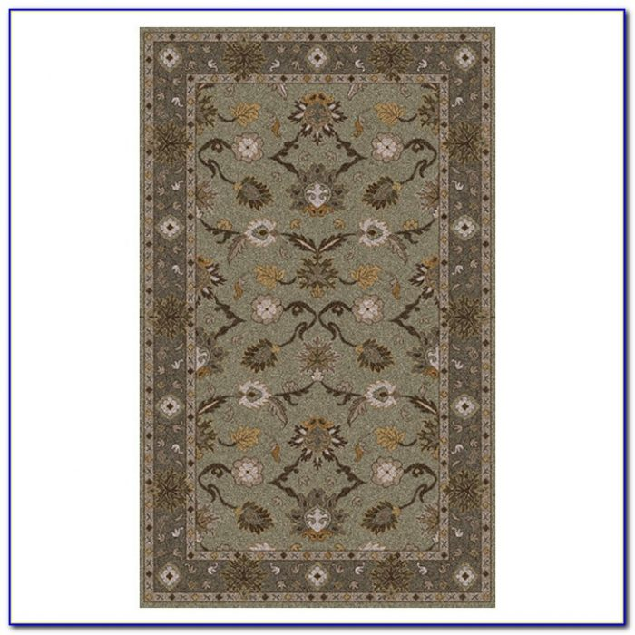 Blue And Olive Green Area Rug