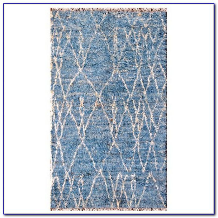 Blue Shag Area Rug