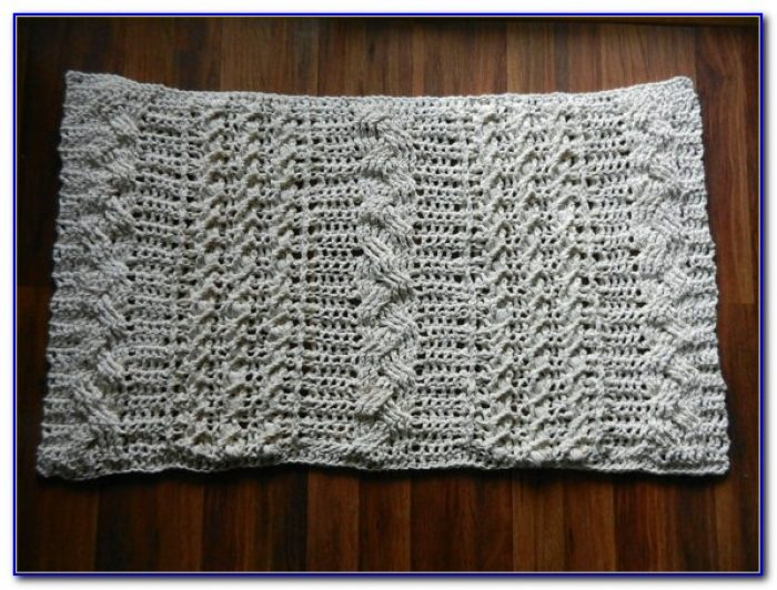 Cable Knit Floor Rug