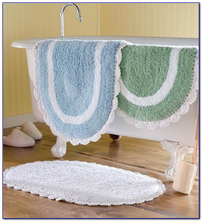 Chenille Bath Rug White