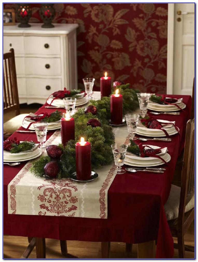 Christmas table decorations martha stewart tabletop