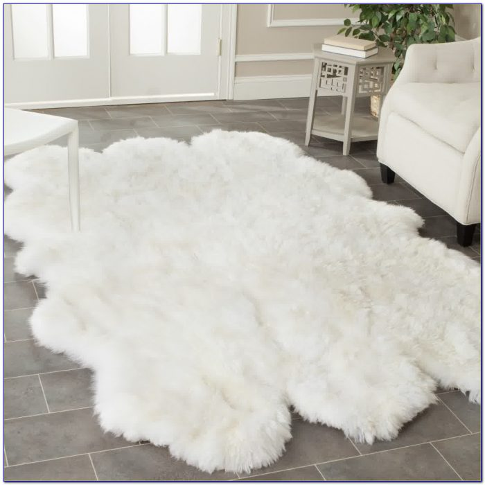 White Fuzzy Circle Rug Rugs Home Design Ideas