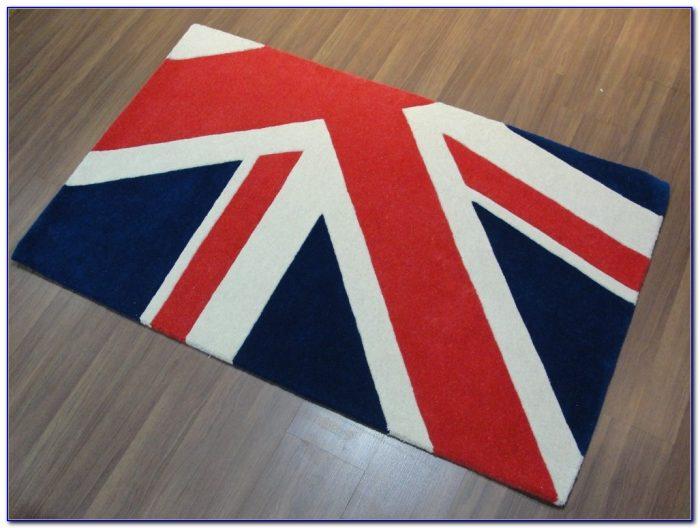 Gray British Flag Rug