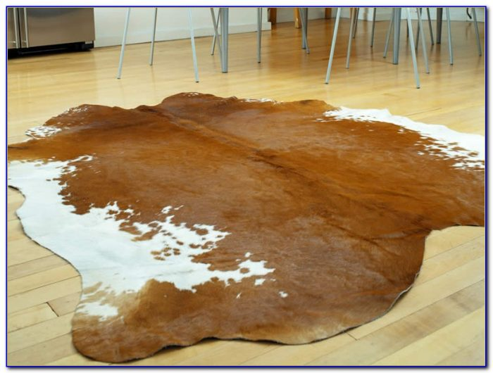 Large Faux Cowhide Rug