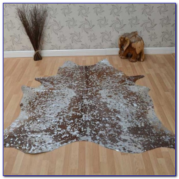Large Patchwork Cowhide Rug
