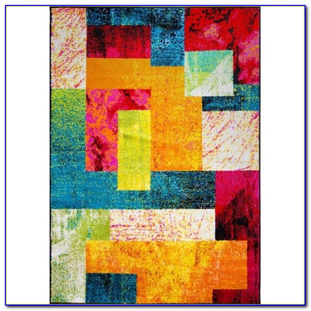 Multi Color Block Rug Download Page Home Design Ideas