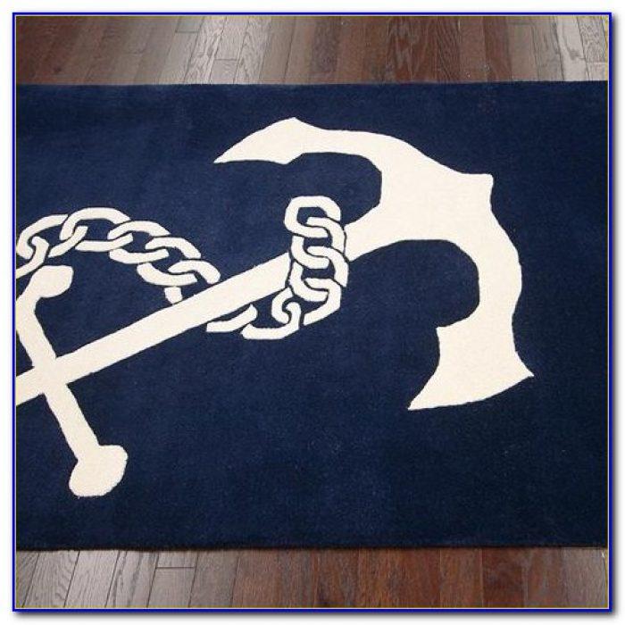 Navy Cotton Bath Rug