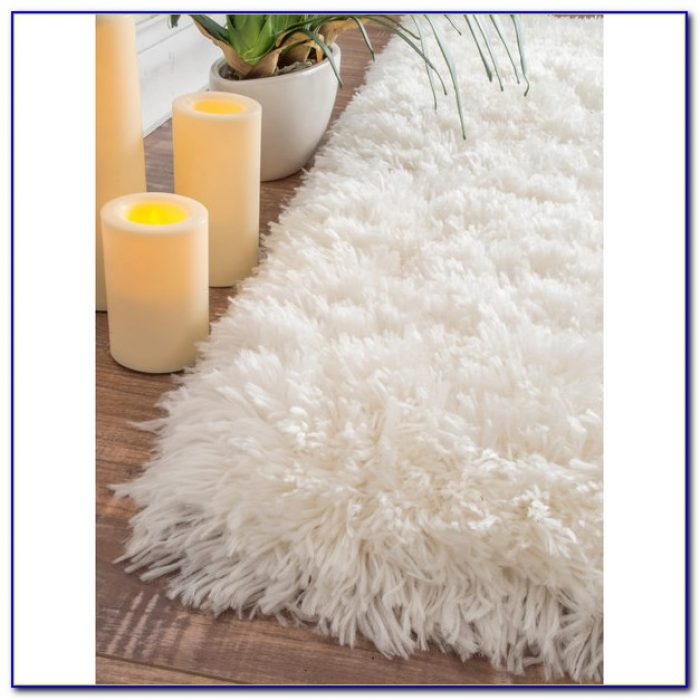 Off White Plush Area Rug