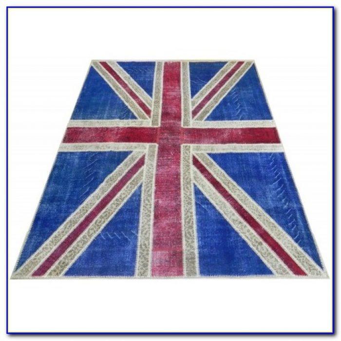 Pink British Flag Rug