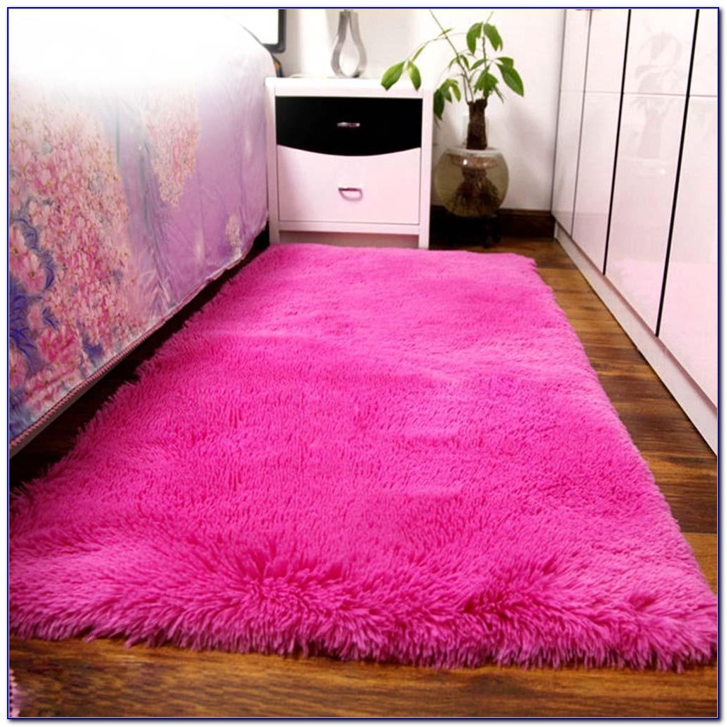 Pink Fuzzy Area Rugs Rugs Home Design Ideas