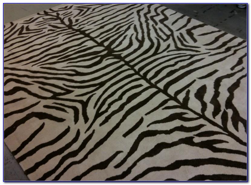 Pottery Barn Brown Zebra Rug