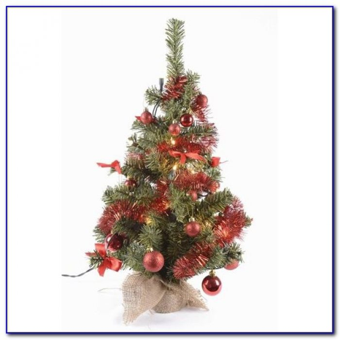 Pre Decorated Tabletop Artificial Christmas Trees