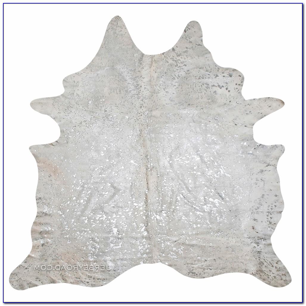 Silver Faux Cowhide Rug